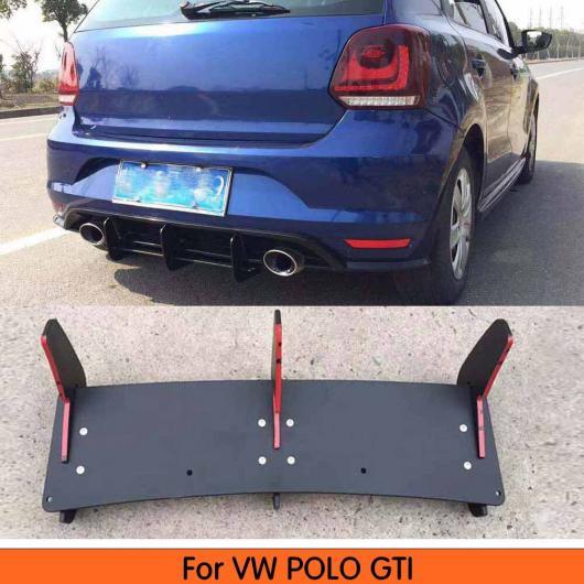 AL 車用外装パーツ 適用: ポロ GTI リア リップ スポイラー トリム フィン シャーク カバー 適用: フォルクスワーゲン VW ポロ GTI 2015 2016 2017 2018 バンパー プロテクター AL-DD-8825
