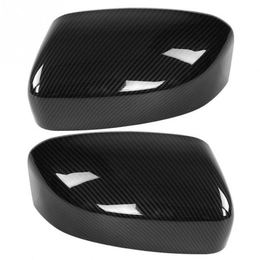 AL 車用外装パーツ 2個 カーボンファイバー ABS バックミラー サイド ミラー カバー トリム ヘッド 装飾 適用: マセラティ レバンテ 2017-2018 AL-DD-8886