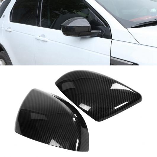 AL 車用外装パーツ 2個 サイド バックミラー ミラー カバー ヘッド 装飾 適用: ランド ローバー ディスカバリー スポーツ 18 カーボンファイバー調 AL-DD-8889