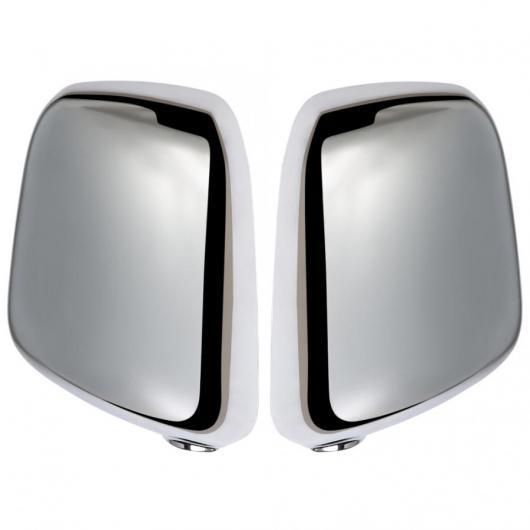 AL 車用外装パーツ 2個 ABS メッキ リア ビュー サイド ミラー カバー トリム 適用: 日産 NV200 2018 シルバー クロム ミラー キャップ AL-DD-8896