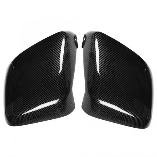 AL 車用外装パーツ 2個 カーボンファイバー スタイル リア サイド ビュー ミラー カバー トリム 適用: 日産 NV200 2018 リアビュー ミラー カバー AL-DD-8897