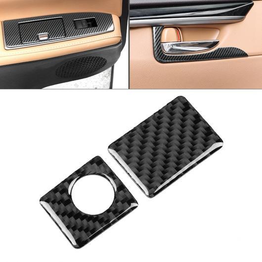 AL 車用内装パーツ 2個 カーボンファイバー ダッシュボード ストレージ ボックス スイッチ トリム フレーム 適用: レクサス IS250 300 200T 2013-2018 AL-DD-9008