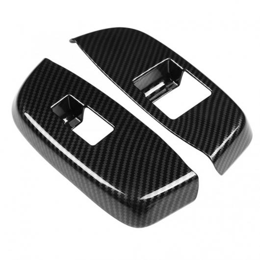 AL 車用内装パーツ 2個 カーボンファイバー スタイル ABS ドア ハンドル アームレスト カバー トリム 適用: 日産 NV200 2018 AL-DD-9073