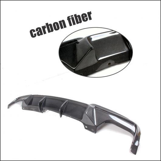 AL 車用外装パーツ グラスファイバー リア バンパー ディフューザー リップ スポイラー 適用: BMW 5 シリーズ F10 Mスポーツ バンパー 2012-2016 カーボン ファイバー ブラック AL-DD-7708