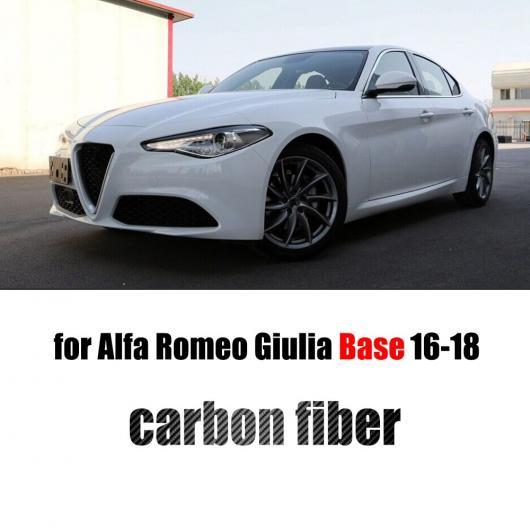 AL 車用外装パーツ フロント グリル メッシュ フレーム カバー 適用: アルファ ロミオ ジュリア ベース スポーツ クアドリフォリオ セダン 4 ドア 2016-2018 カーボン ファイバー ベース AL-DD-8365