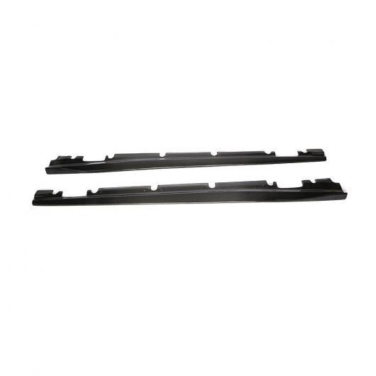 AL 車用外装パーツ カーボンファイバー サイド スカート エプロン スポイラー 適用: メルセデスベンツ W176 Aクラス A160 A180 A200 A250 A45&CLA W117 CLA180 CLA45 AMG 13-17 ブラック AL-DD-8526