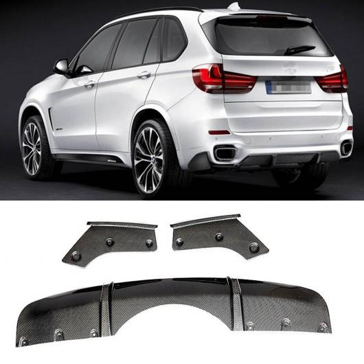 AL 車用外装パーツ X5 F15 Mスポーツ カーボンファイバー リア バンパー リップ ディフューザー サイド スプリット 適用: BMW X5 F15 Mテック 2014-2018 ダークグレー AL-DD-8632