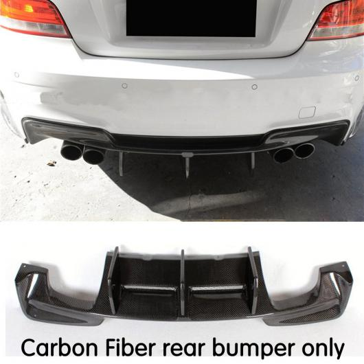 AL 車用外装パーツ カーボンファイバー 適用: E82 バック バンパー リップ リア バンパー リップ ディフューザー 適用: BMW 1 シリーズ E82 1M バンパー ブラック AL-DD-8649
