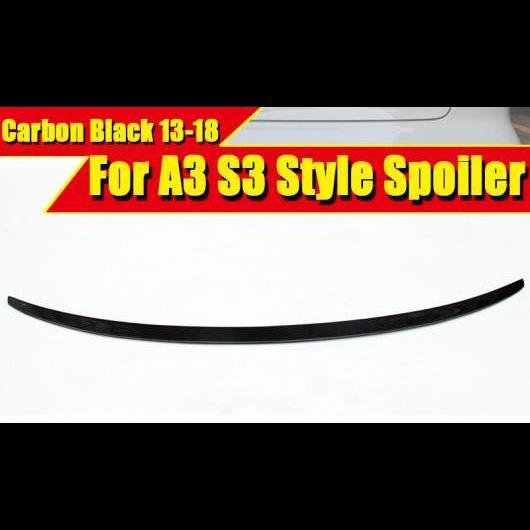 AL 車部品 S3 カーボンファイバー スポイラー ウイング S スタイル 適用: アウディ A3 リップ リア バンパー トランク 2013-2018 タイプ001 AL-EE-0039