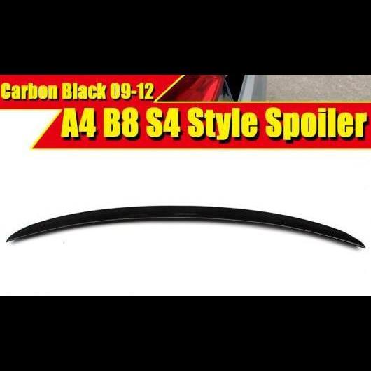 AL 車部品 A4 B8 S4 スタイル カーボンファイバー リア トランク スポイラー ウイング 適用: アウディ Sライン スタンダード 4ドア セダン 2009-12 タイプ001 AL-EE-0043