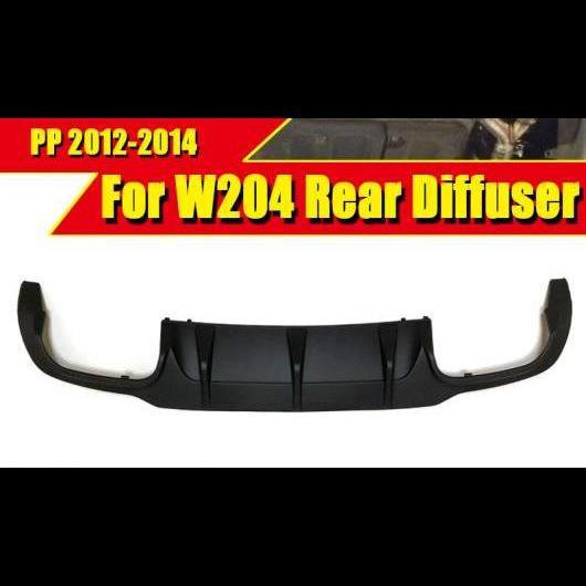 AL 車用外装パーツ W204 リア バンパー リップ ディフューザー C63 スタイル PP プラスチック 適用: メルセデスベンツ C180 C200 C250 C280 300 ディフューザー&C63 12-14 タイプ001 AL-EE-0122