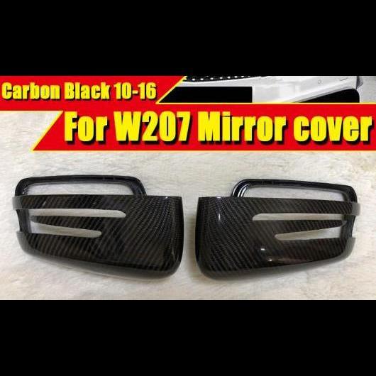 AL 車用外装パーツ Eクラス クーペ W207 ウイング ドア ミラー カバー カーボン ブラック 2個 適用: メルセデス E63AMG ヘッド 2010-16 タイプ001 AL-EE-0208