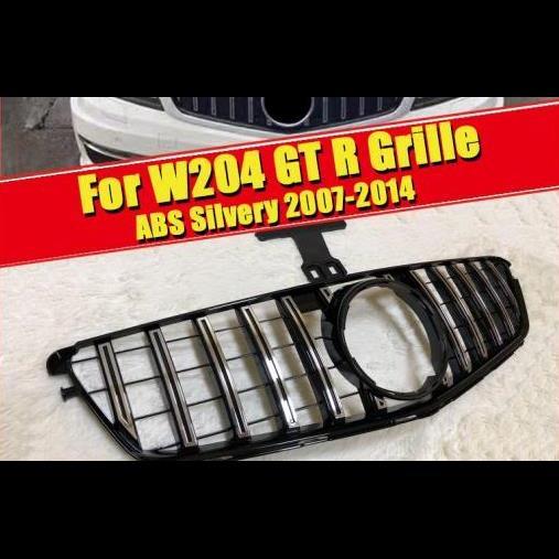 AL 車用外装パーツ W204 GT R スタイル フロント グリッド グリル 適用: メルセデスベンツ Cクラス C180 C200 C250 C280 C300 C350 C400 C63 グリル 07-14 タイプ001 AL-EE-0274