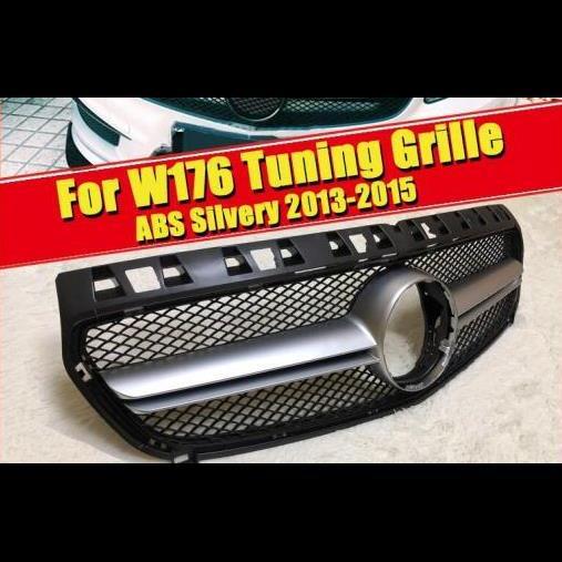 AL 車用外装パーツ W176 A45AMG グリッド グリル ABS シルバー 適用: メルセデス A180 A200 A250 グリル 適用: モデルチェンジ前 モデル 09/2015 タイプ001 AL-EE-0292