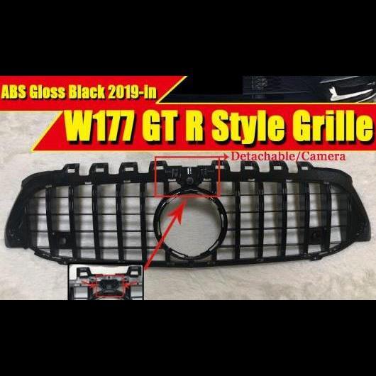 AL 車用外装パーツ W177 Aクラス A45AMG GTS グリッド グリル 適用: ベンツ A160 A180 A200 フロント ABS ブラック 360 カメラホール モデル 2018年4月~ タイプ001 AL-EE-0306