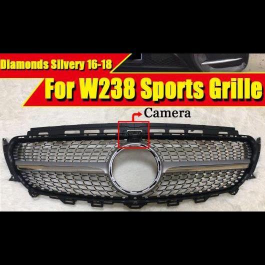 AL 車用外装パーツ W238 ダイヤモンド スタイル グリル スポーツ E63AMG ABS シルバー カメラホール Eクラス E200 E250 E300 E350 グリル 16-18 タイプ001 AL-EE-0333