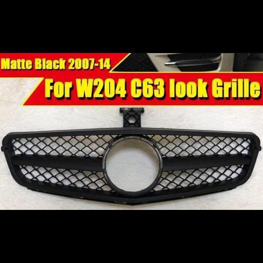 AL 車用外装パーツ 適用: メルセデス Cクラス W204 C204 クーペ スポーツ フロント グリッド グリル ABS マット ブラック C63 スタイル 2007-14 タイプ001 AL-EE-0376
