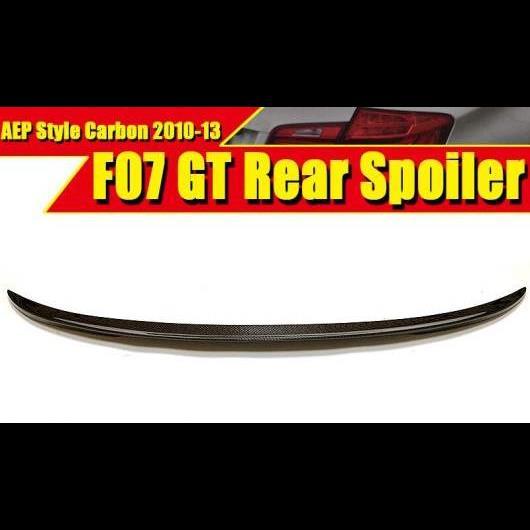 AL 車用外装パーツ F07 GT スポイラー リア リップ ウイング カーボンファイバー P スタイル 適用: BMW 5シリーズ 535iGT 550iGT トランク 2010-2013 タイプ001 AL-EE-0436