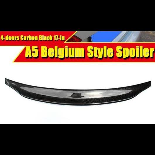 AL 車用外装パーツ 適用: アウディ A5 A5Q リア スポイラー テール E スタイル 4ドア カーボン リア トランク スポイラー ウイング 装飾 17 タイプ001 AL-EE-0542