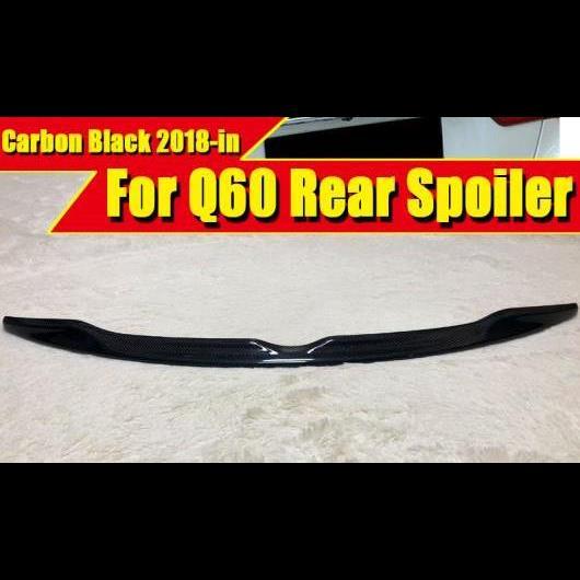 AL 車用外装パーツ 適用: インフィニティ Q60 テール リア スポイラー トランク ウイング 日産 スタイル カーボン Q60S 18+ タイプ001 AL-EE-0546