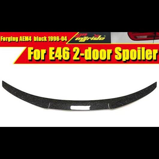 AL 車用外装パーツ E46 2ドア セダン リア トランク スポイラー ウイング 鍛造 カーボンファイバー M4 スタイル 適用: BMW 3シリーズ 318i 320i 325 96-04 タイプ001 AL-EE-0599