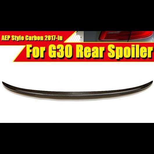 AL 車用外装パーツ 適用: BMW G30 スポイラー ウイング P スタイル 5シリーズ 530i 540i 545i 550i M パフォーマンス カーボンファイバー リア トランク テール 2017 タイプ001 AL-EE-0728
