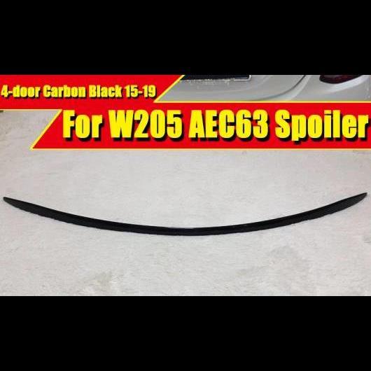 AL 車用外装パーツ W205 4ドア セダン ダックビル スポイラー カーボンファイバー C63 スタイル 適用: ベンツ C180 C250 C300 C200 リア トランク ウイング 2015-19 タイプ001 AL-EE-0737