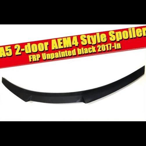 AL 車用外装パーツ 適用: アウディ A5 2ドア クーペ ダックビル スポイラー テール ウイング M4 スタイル FRP 未塗装 リア トランク メンバー ブート リップ 装飾 17 タイプ001 AL-EE-0763