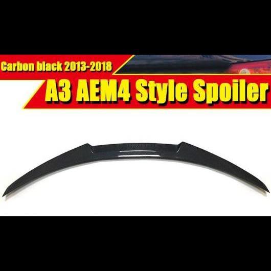 AL 車用外装パーツ 適用: アウディ A3 A3Q セダン ダックビル リア スポイラー M4 スタイル ハイ キック カーボンファイバー ブラック トランク メンバー ブート リップ ウイング 2013-2018 タイプ001 AL-EE-0789