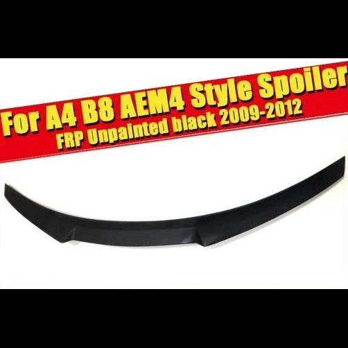 AL 車用外装パーツ 適用: アウディ A4 B8 ダックビル スポイラー A4A A4Q M4スタイル FRP 未塗装 ブラック リア トランク ハイ テール ウイング 2009-2012 タイプ001 AL-EE-0791