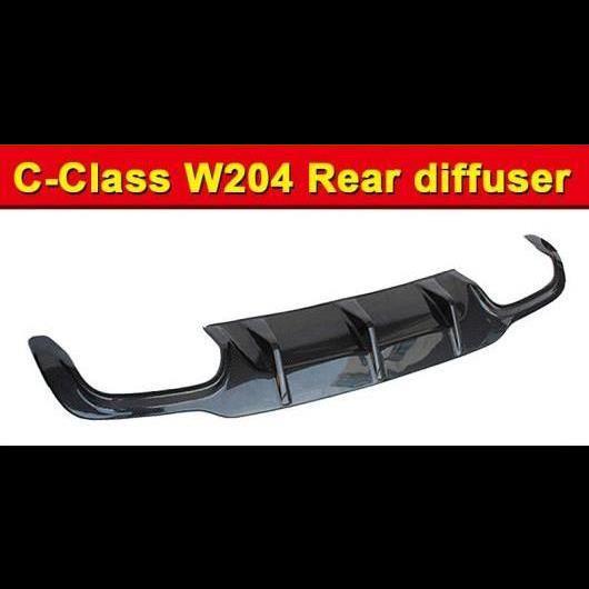AL 車用外装パーツ W204 リア ディフューザー カーボンファイバー ホールなし ブラック バンパー リップ 適用: ベンツ C180 C200 C250 12-14 タイプ001 AL-EE-0936