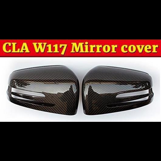 AL 車用外装パーツ CLAクラス W117 サイド ミラー カバー キャップ 2個 カーボンファイバー 適用: メルセデスベンツ CLA200 CLA250 CLA45 14-16 タイプ001 AL-EE-1001