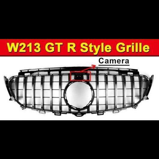 AL 車用外装パーツ GT R スタイル グリッド W213 スポーツ E63AMG ABS シルバー カメラホール 適用: メルセデス Eクラス E200 E250 E300 グリル 16+ タイプ001 AL-EE-1042