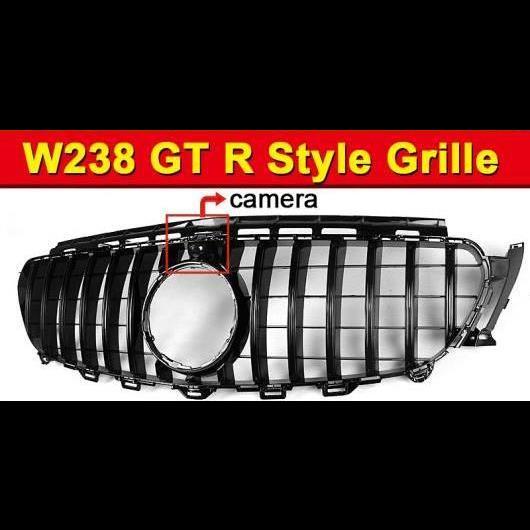 AL 車用外装パーツ W238 GT R スタイル グリッド ABS 光沢ブラック カメラホール 適用: メルセデスベンツ Eクラス E200 E250 E300 E350 グリル 2016-18 タイプ001 AL-EE-1043