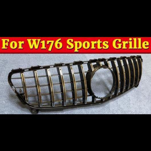 AL 車用外装パーツ W176 GTS スタイル グリッド ABS シルバー フロント バンパー グリル 適用: メルセデスベンツ A180 200 250 A45 16+ タイプ001 AL-EE-1059