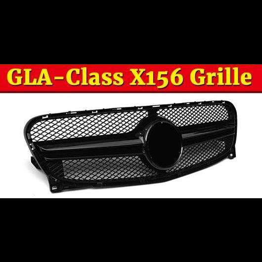 AL 車用外装パーツ 適用: ベンツ X156 フロント グリッド グリル GLA45 スタイル ABS 光沢ブラック GLAクラス GLA180 GLA200 GLA250 グリル 14-16 タイプ001 AL-EE-1066