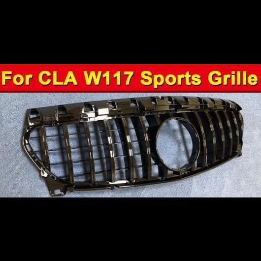 AL 車用外装パーツ CLAクラス W117 GT R スタイル フロント グリッド ABS 光沢ブラック CLA200 CLA250 CLA300 CLA45 バンパー 2014-18 タイプ001 AL-EE-1074
