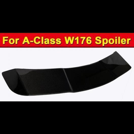 AL 車用外装パーツ 適用: メルセデス W176 スポイラー エクステンション ヘッド ウイング R スタイル カーボンファイバー Aクラス A180 A200 A250 A45 ルーフ ウインドウ 13-18 タイプ001 AL-EE-1105