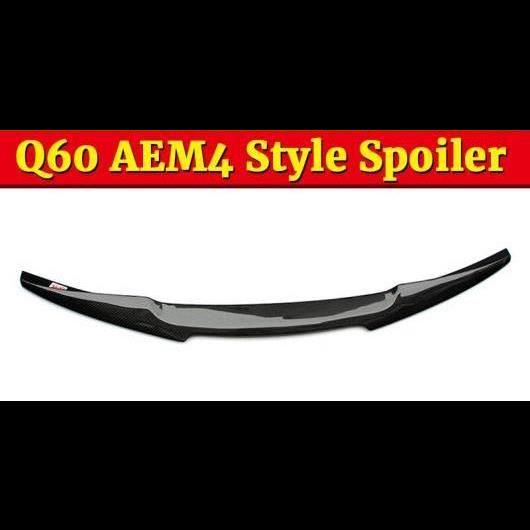 AL 車用外装パーツ Q60 M4 スタイル カーボン リア トランク スプリッタ テール スポイラー ウイング 適用: Q60S カーボンファイバー 2018+ タイプ001 AL-EE-1121