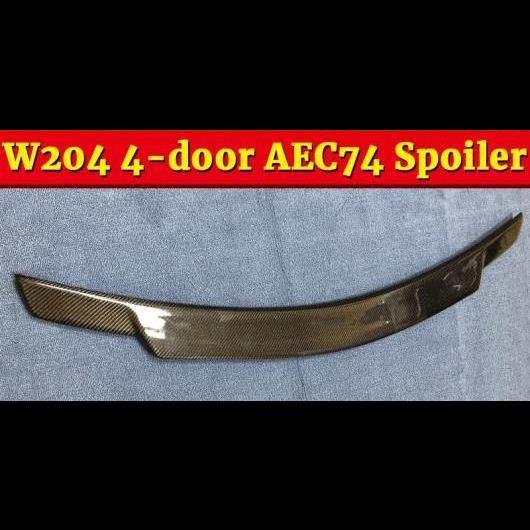 AL 車用外装パーツ W204 C74 スタイル カーボンファイバー リア トランク スポイラー ウイング 適用: メルセデスベンツ Cクラス 4ドア C180 C200 C250 C300 C350 セダン 07-13 タイプ001 AL-EE-1155