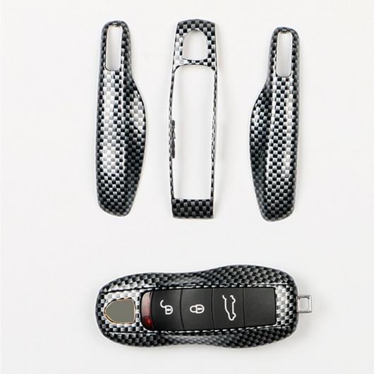 AL 360度 全面保護 3ボタン ABS キー バッグ カバー ウォレット ケース 適用: ポルシェ/カレラ 2012 2013 2014 シェル タイプ001 AL-EE-3327