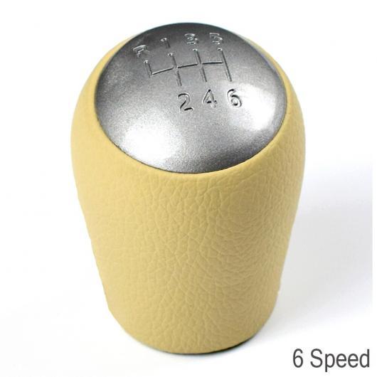 AL カースタイリング 6速 レザー ABS ギア シフト ノブ ハンドル シフター ノブ ヘッド 適用: 日産 キャシュカイ エクストレイル MT 6速 AL-EE-3450