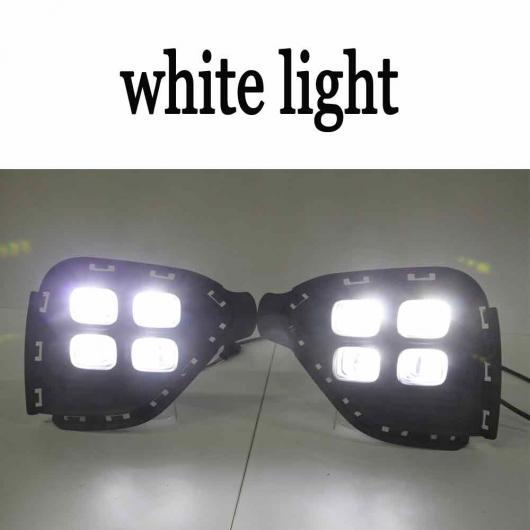 AL 適用: ヒュンダイ クレタ IX25 2017 2018 デイタイム ランニング ライト DRL LED フォグランプ カバー イエロー ターニング シグナル ホワイト AL-EE-3799