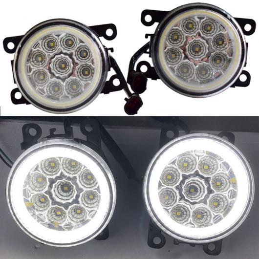 AL カースタイリング 12V フォグライト DRL LED バルブ H11 H8 ソケット 適用: ルノー コレオス HY クローズド オフロード 車両 2008-2015 エンジェル アイ・9 ライト AL-EE-3834