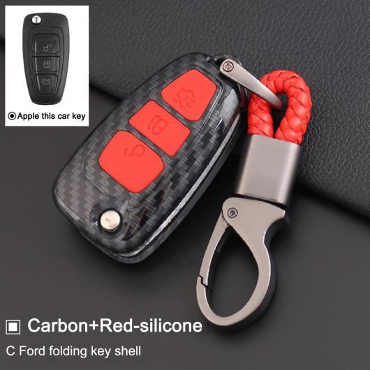 AL フリップ 折りたたみ キー シェル ケース シリコン+ABS 適用: フォード 3 MK3/ギャラクシー モンデオ トランジット フィエスタ エスケープ タイプ001~タイプ006 AL-EE-3011