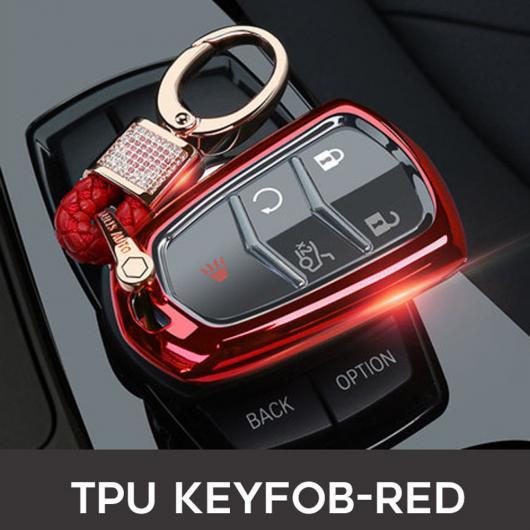 AL 5ボタン TPU キーケース セット カバー バッグ 適用: キャデラック エスカレード ESV XTS ATS CTS SRX CT6 ATS-L XT5 キー ホルダー キーフォブ タイプ001~ピンク AL-EE-3167