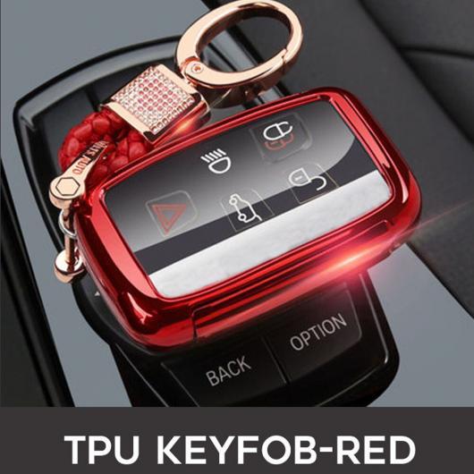 AL TPU キー カバー ケース 適用: ランド ローバー 4イヴォーク/ディスカバリー 2 3/ヴォーグ/X8/XFR/LR4/ジャガー XK XKR/Fペース S-TYPE タイプ001~ピンク AL-EE-3182