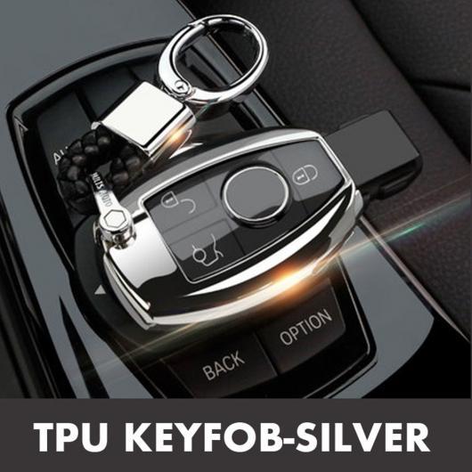 AL TPU 2/3ボタン キー ウォレット ケース シェル 適用: メルセデス ベンツ W204 W205 W210 W211 W212 W251 W463 E260L S320 GLK300 タイプ002・タイプ003 AL-EE-3221
