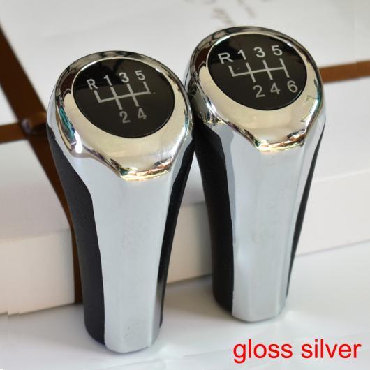 AL クローム シルバー 5速/6速 ギア シフト ノブ ハンドル ノブ 適用: BMW E30 E32 E34 E36 E38 E39 E46 E53 E60 E63 E83 E84 E87 E90 E91 レッド~ブラウン AL-EE-3349
