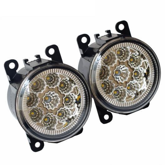 AL 左 右 フロント フォグライト 適用: ホンダ 2015-UP フロント バンパー LED フォグランプ 90mm ラウンド フォグライト LED (ホワイト)・ハロゲン (ウォーム ホワイト) AL-EE-3413